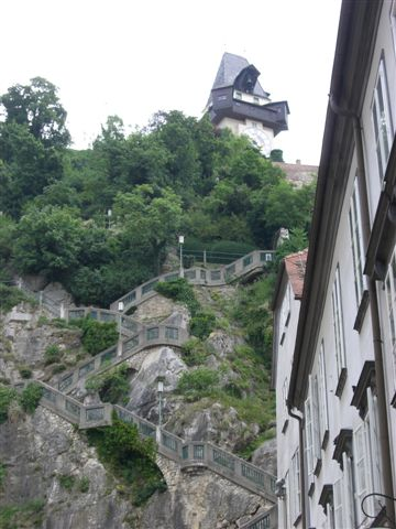 時計塔のあるシュロスベルク