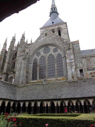 モン・サン・ミッシェル修道院/回廊と教会