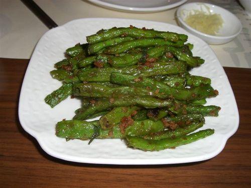 いんげん豆とひき肉の醤油炒め