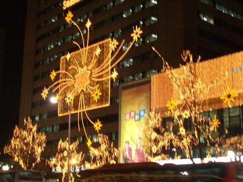 明洞(ミョンドン)のクリスマス・イルミネーション