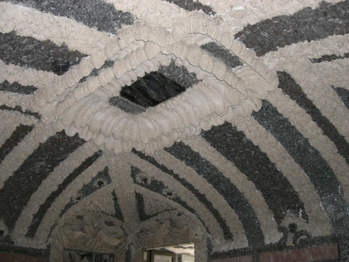 珊瑚でできた天井