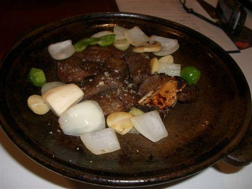 牛カルビ焼き&生高麗人参と野菜のサラダ