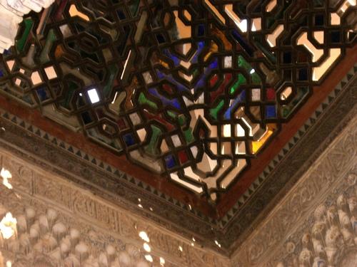 アベンセラヘスの間/天井のステンドグラス