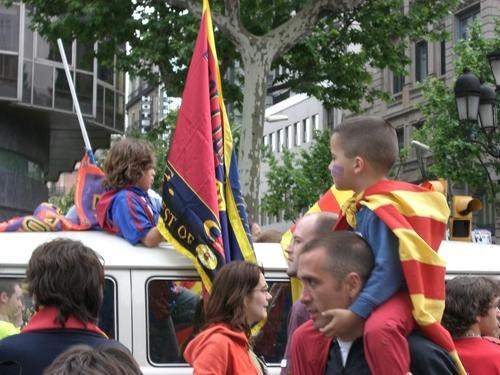 FCバルセロナのサポーター