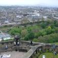 半月砲台からのエジンバラ市街の眺望