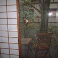 客室・桜のベッドルームから外を